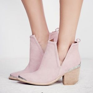 Jeffrey Campbell Free People Cromwell Pink Booties